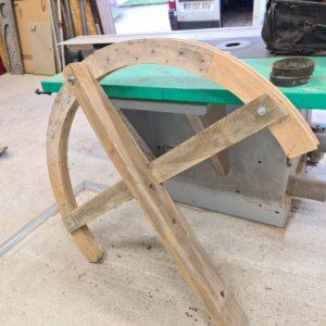 Restauration d'une demie roue de tirage